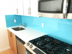 Colored Glass Backsplash for Kitchen